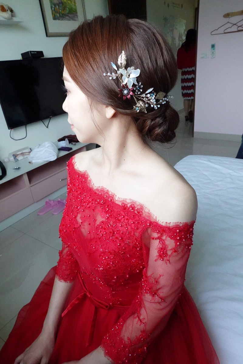 婚禮造型,新娘秘書,文定造型,新娘秘書EVA